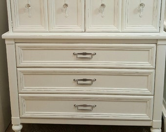 Rustic cottage armoire dresser shabby chic hollywood regency dressers