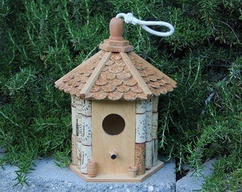 Gazebo Birdhouse, wine cork art