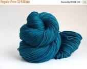 On Sale: Hand Dyed Sport Weight Yarn, Super Sport, Super Wash Merino Wool/ Nylon, Solid, Azure