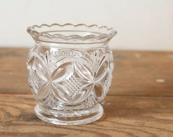 Vintage Pressed Glass Spooner Bowl