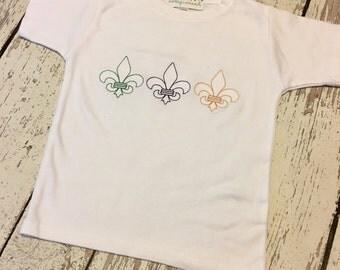 Boys Mardi Gras shirt, mardi gras fleur de lis, mardi gras shirt boys, mardi gras fleur de lis, boys parade shirt, mardi gras party shirt