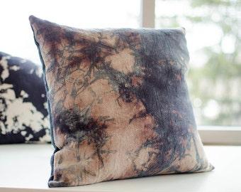 Hand dyed linen pillow cushion case