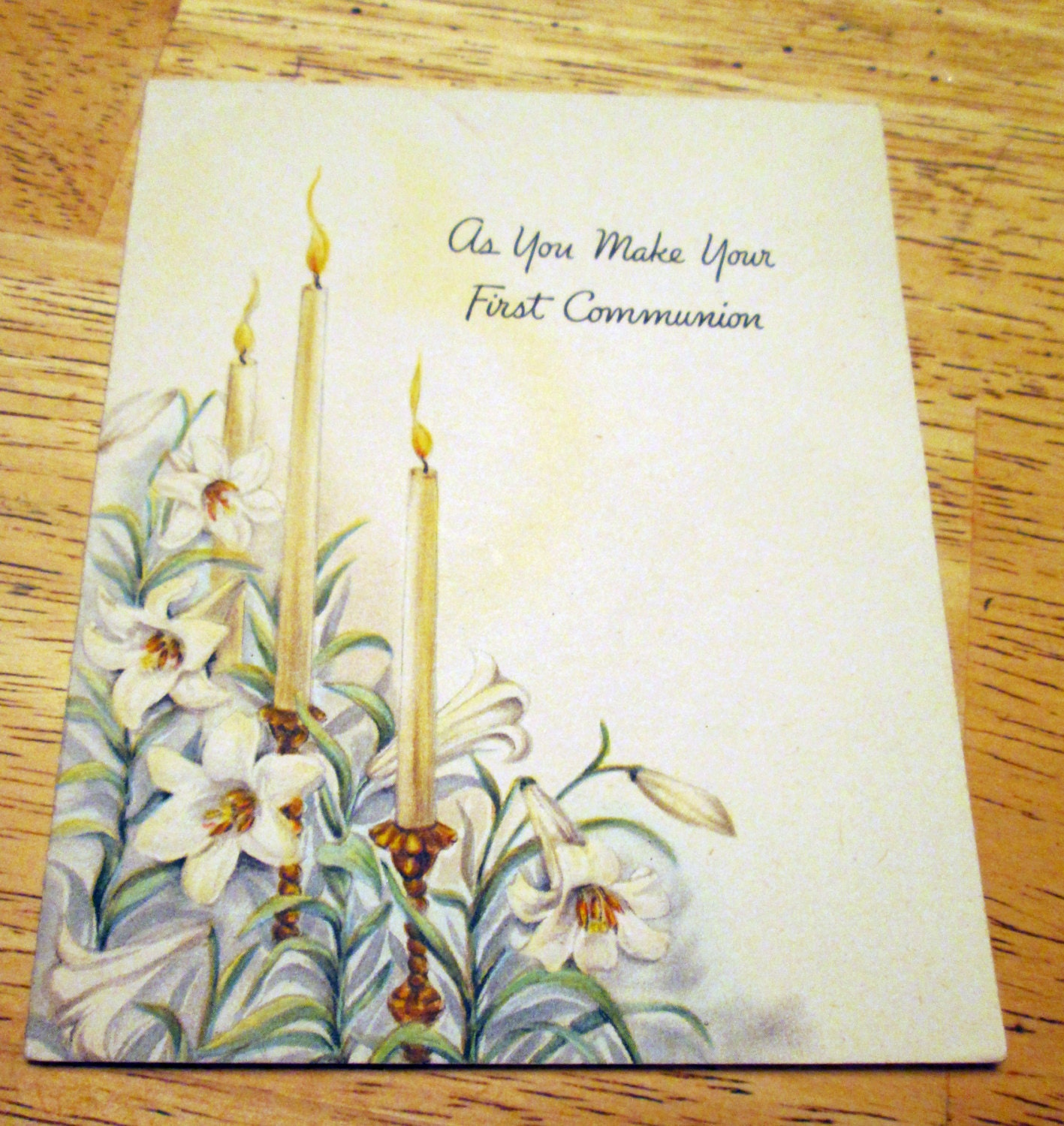 Vintage first communion greeting card by hallmark 1940s from lise46 vintage first communion greeting card by hallmark 1940s m4hsunfo Gallery