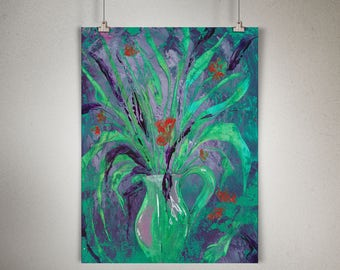 """Plant Study 0009 PAINTING on CANVAS SHEET 12"""" x 16"""", Snake Plant, Sansevieria"""