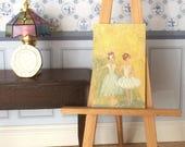 Ballerinas Dolls House Paintings  Original Art Dollhouse Picture by miniature artist Hazel Rayfield