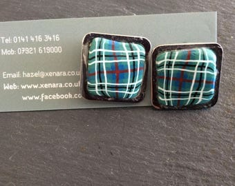Tartan cufflinks - Scottish gift - Gents jewellery