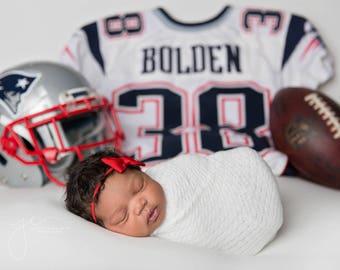Small Red Bow Headband, Newborn Bow Headband, Baby Grosgrain Ribbon Bow Headband, Tiny Bowtie Headband, Petite Bow Headband, Baby PhotoProp