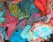 Grab Bag of mixed silk off-cuts, Dyeing Easter Eggs