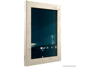 "Craig Frames, 8x12 Inch Distressed Off-White Picture Frame, Bauhaus 1.25"" Wide (260120812)"