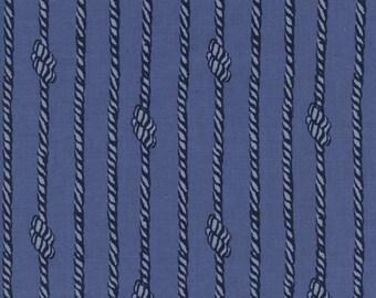 S.S. Bluebird - Tied in Knots in Blue - Cotton + Steel - 5106-01 - 1/2 yard