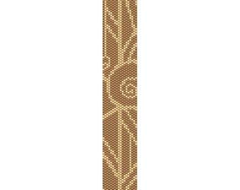 Art Deco 8 Peyote Bead Pattern, Bracelet Pattern, Bookmark Pattern, Seed Beading Pattern Miyuki Delica Size 11 Beads - PDF Instant Download