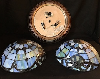 Dale Tiffany Stained Glass Dragonfly Mantle Clock Lamp