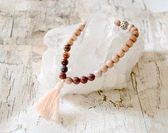 Daze. Mookaite &Rosewood Karma Bracelet.