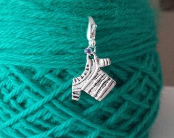 Sweater Knitting/Crochet Stitch Marker-Project Bag Zipper Charm-Purse/Planner/Cell Charm-Progress Keeper-Knit Marker*Top*Sweater