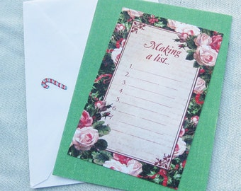 Making a List... Christmas or Yule Handmade Card - Handmade Cards