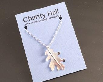 Oak Leaf Necklace in Sterling Silver