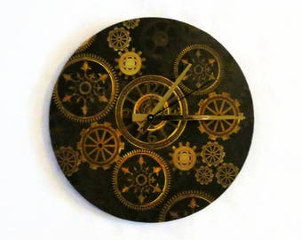 Wall Clock, Steampunk, Home and Living,  Home Decor, Decor and Housewares
