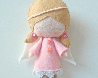 HURRY PRESIDENTS DAY Sale Angel - Felt Doll - Guardian Angel - Angel Doll