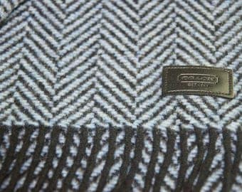 Authentic Coach Wool/Cashmere Blend Scarf