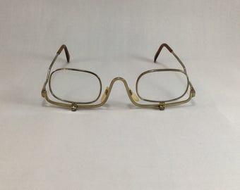 Vintage Fold Down Eye Glasses,Reading Glass,Make Up Glasses