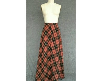Vintage Yohji Yamamoto Y's Japan Wool Plaid Maxi Skirt 1990s