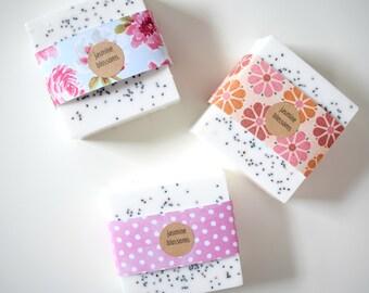 Jasmine Tea Blossoms Soap: full size bar natural soap
