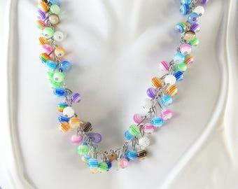 Striped cha cha necklace