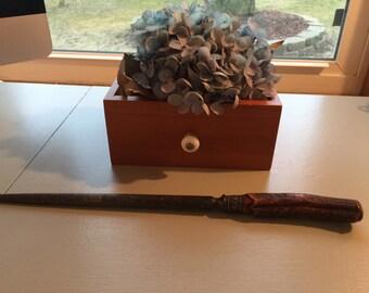 Vintage Stag Horn and Sterling Banded Knife Sharpener