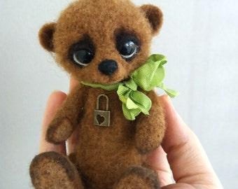 Rollie - Artist bear, OOAK, tiny bear, antique, old world, collectible, vintage bear, miniature bear, dollhouse, classic bear, art bear
