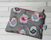Coin purse, change purse, birdcages, gift for bird lover