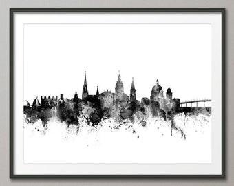 Annapolis Skyline, Annapolis Maryland Cityscape Art Print (2745)