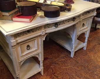 "SOLD....The ""Erica"" Antique Shabby Chic Painted Desk"