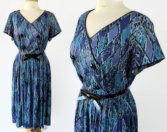 60s Plus Size Novelty Print Dress