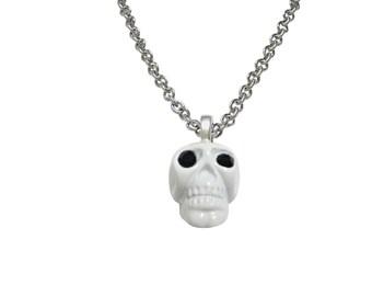 White Skull Pendant Necklace