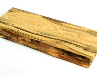 "Natural Edge Serving Board - Spalted Silver Maple - Ready to Ship - 19""x8""x1"""