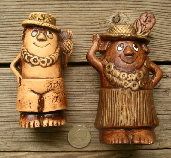 Vintage Treasure Craft Of Hawaii Salt And Pepper Shakers