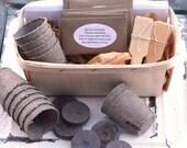 Butterfly Garden Kit, Heirloom Seed Kit, Butterfly Garden Plants, Garden Supplies in Gift Basket, Deluxe Butterfly Kit, Great Gift for Mom
