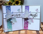 Thank You Greeting Card, Love Greeting Card, Interactive Card, Newtons Nook Stamps, Butterflies