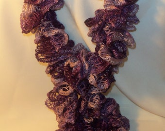 Ruffle Scarf  ~  Boogie ~  Purple