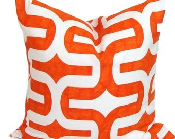 "ORANGE Pillow, 18x18"" Pillow Cover, Orange Decorative Pillow, , Orange Throw Pillow Cover,  Pillow. Orange Cushion.Orange Pillow Cover.cm"