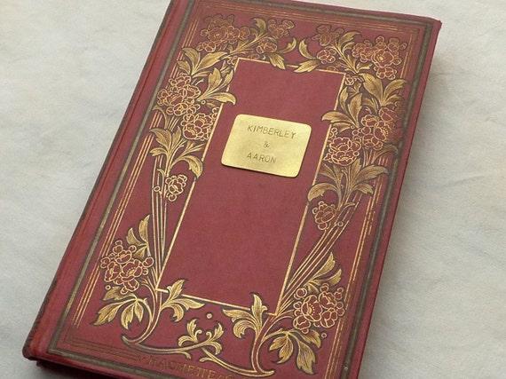 Vintage Wedding Guestbook, Unique Journal, Rebound Book Guest Book, Custom Journal, Anniversary Gift, Birthday Keepsake, Blank Book