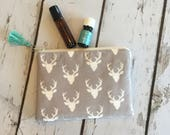 Ready to ship, New Essential Oil Bag, Roller bottle or 5ml bag, Deer ( holds 6-8)