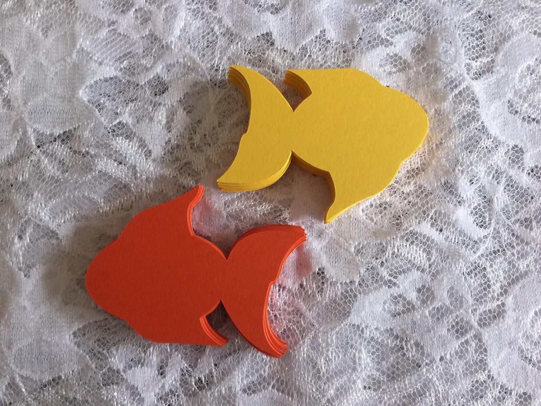 Fish Die Cut Paper Fish Cut Out Nautical Die Cut Under The