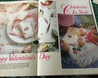 Valentine/Birthday Placemat & Napkin - Cross Stitch Pattern Only