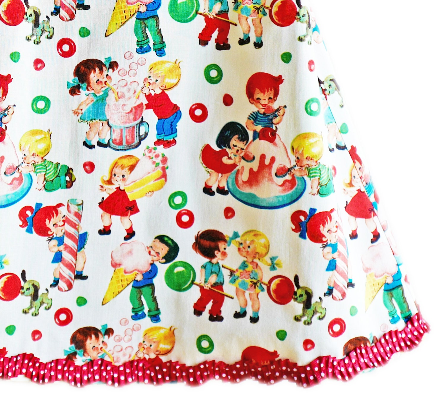Last e Vintage Toys Michael Miller Fabric Birthday Party