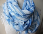 Plaid-blue white scarf woman fashion -checks womens scarf-scarves for woman Istanbul Turkey Turkish - scarf woman fashion - women's scarves
