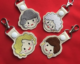 Golden Girl Inspired Keychain, Golden Girls Inspired charm, snap tab, lanyard, birthday gift, gifts for her, Mother's Day gift