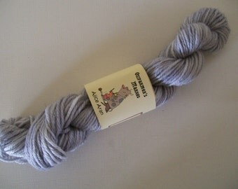 REDUCED: Alice Aran- 10 ply/Aran/Worsted 100% wool. Silver.  50gm