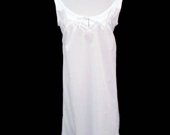 """1800's Civil War Victorian Wedding Bridal White Chemise with Lace and Ribbon Bust 36-38"""""""