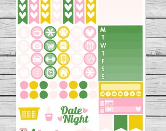 Lucky Girl Functional Planner Stickers